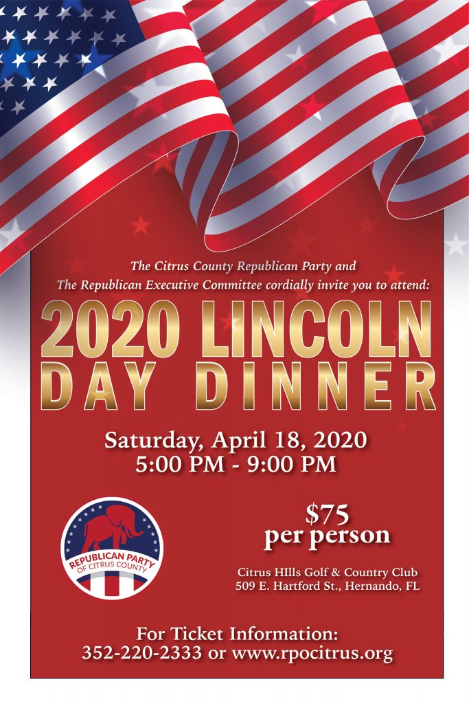 Lincoln Day Dinner Poster